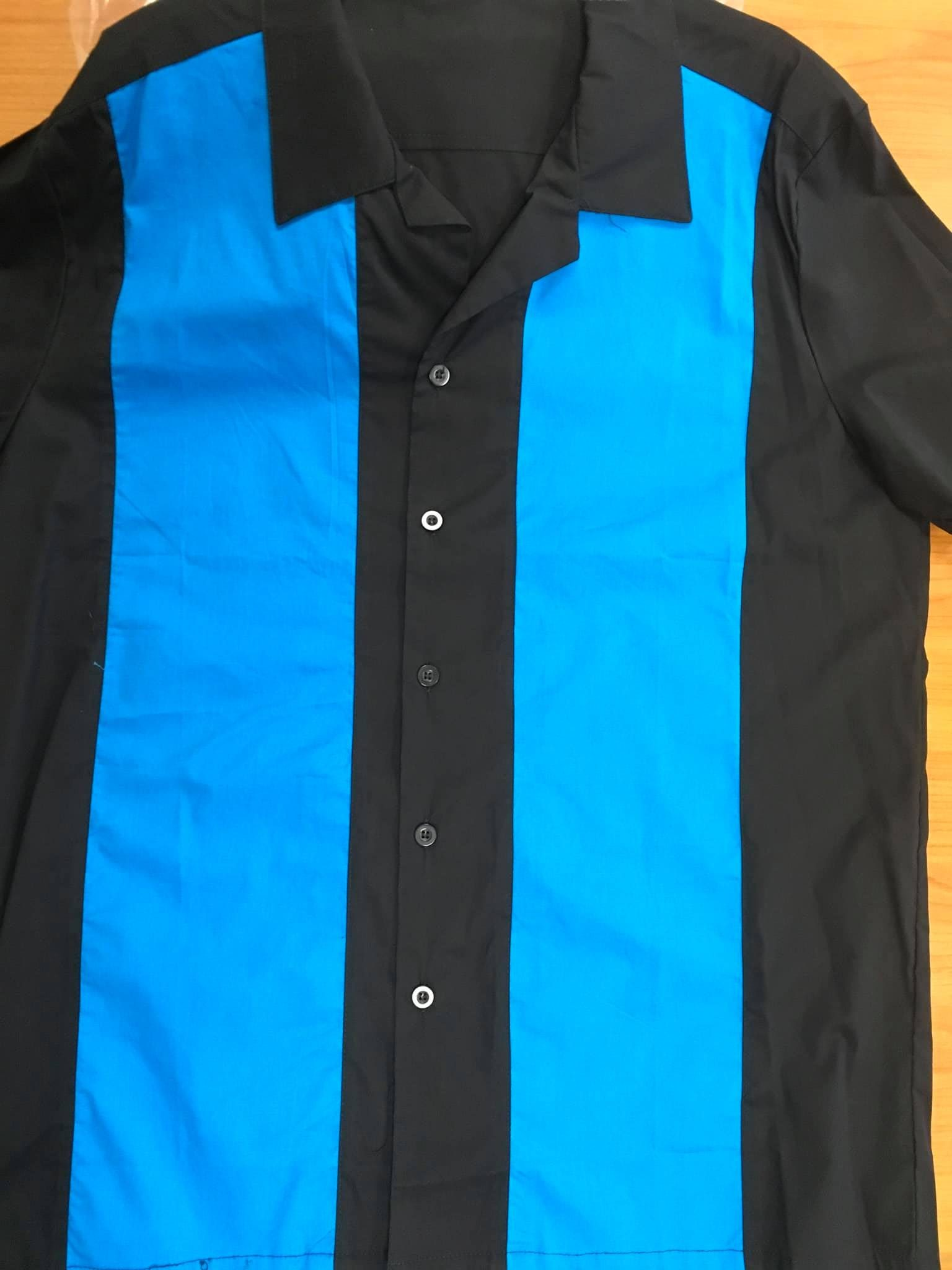 Splinter Bowling Short ( Black With Blue Front Panels )