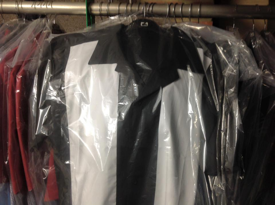 Splinterwood Bowling Shirt ( Black With White Panels )